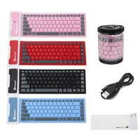 Foldable Waterproof Universal Portable Bluetooth Wireless Soft Silicone Keyboard For Laptop For IPad New Smart Phone