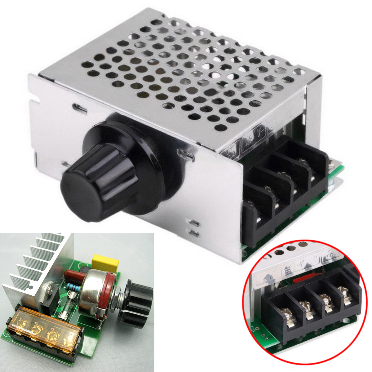 купить 4000W 220V AC SCR Voltage Regulator Mayitr Motor Speed Controller Module Dimmer for Electric Furnace Water Heater 89*59*38mm недорого