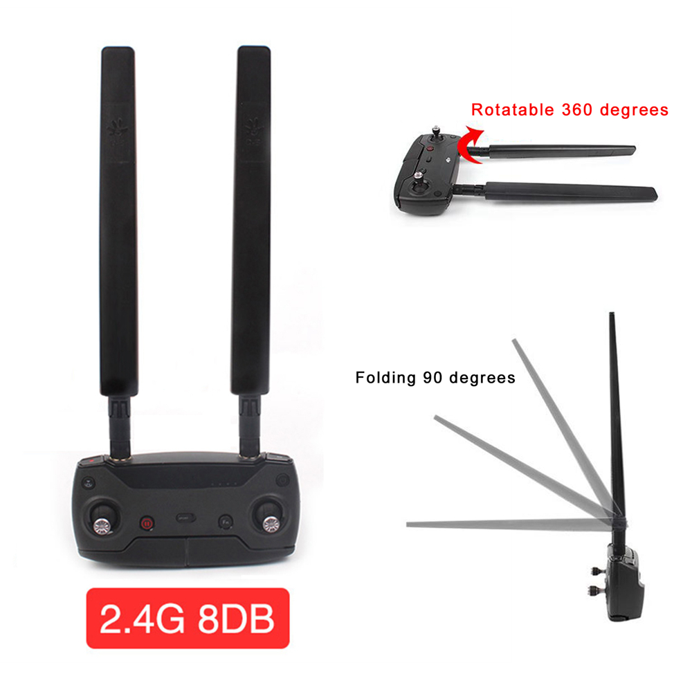 Remote Control Antenna WiFi Signal Booster Range Extender Kit for DJI Spark Mavic Air/Pro Drone Remote Controller Antena for DJI dji mavic air transmitter signal booster for dji mavic air drone remote controller antenna amplifier accessory