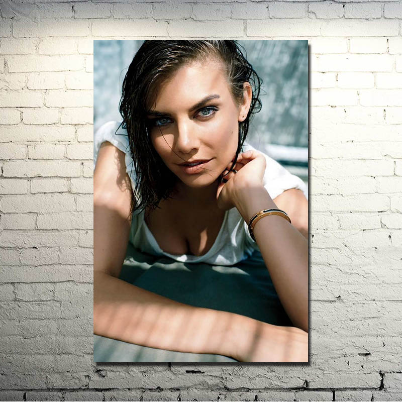 Lauren Cohan Poster Actress TV Series Walking Dead Silk Canvas Posters 13x24 inch Picture For Room Decor (more)-10 image