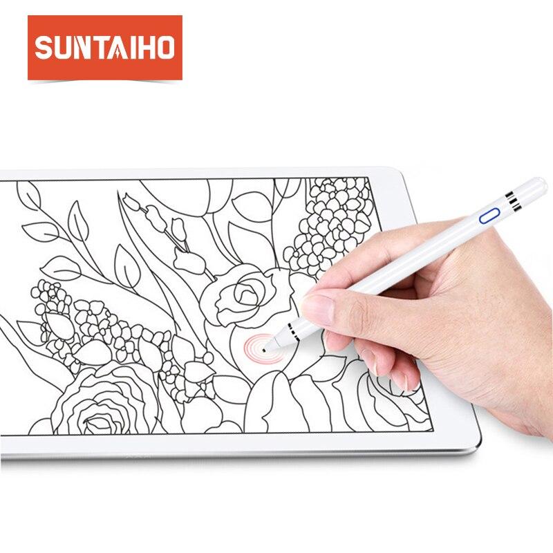 Per apple Matita Suntaiho Cornici e articoli da esposizione dello stilo di capacità di tocco Della Matita per apple ipad con vendita al dettaglio per apple penna per Tablet dispositivi