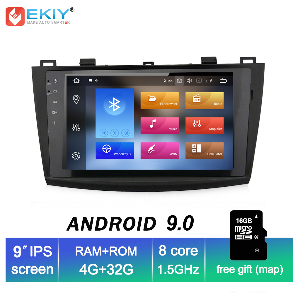EKIY 9'' IPS 2 Din Android 9.0 <font><b>Car</b></font> <font><b>Radio</b></font> For <font><b>MAZDA</b></font> <font><b>3</b></font> 2009 <font><b>2010</b></font> 2011 2012 GPS Navi Wifi Auto Stereo Multimedia Player Head Unit image