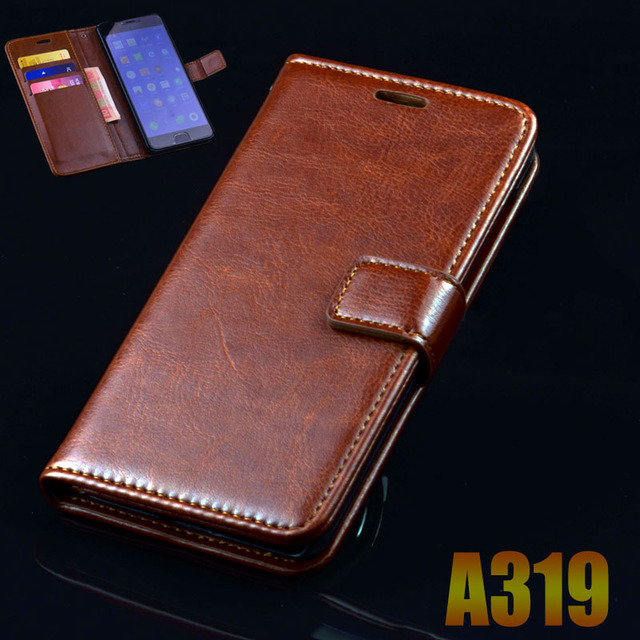 lenovo A319 A 319 case cover luxury leather flip Phone Bags for lenovo A319 ultra thin Business wallet Phone Bags Case cover