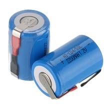 2-16Pieces Anmas Power Blue COlor 1.2V 4/5 SC Sub C 2200mAh Ni-CD nicd Rechargeable Batteries