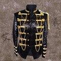 De los nuevos hombres de largo traje bar cantante rendimiento trajes de acogida con el traje de chaqueta do241
