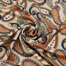 Silky Polyester Satin Tissu Paisley Fabric For Dress