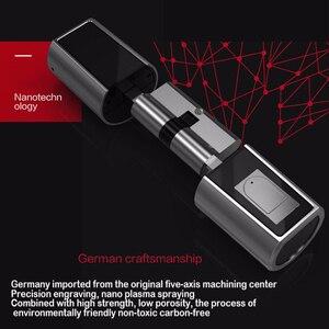 Image 5 - 2020 חדש עיצוב L5SR Plus בית אינטליגנטי חכם צילינדר Bluetooth אלקטרוני טביעות אצבע צילינדר דיגיטלי מנעול דלת