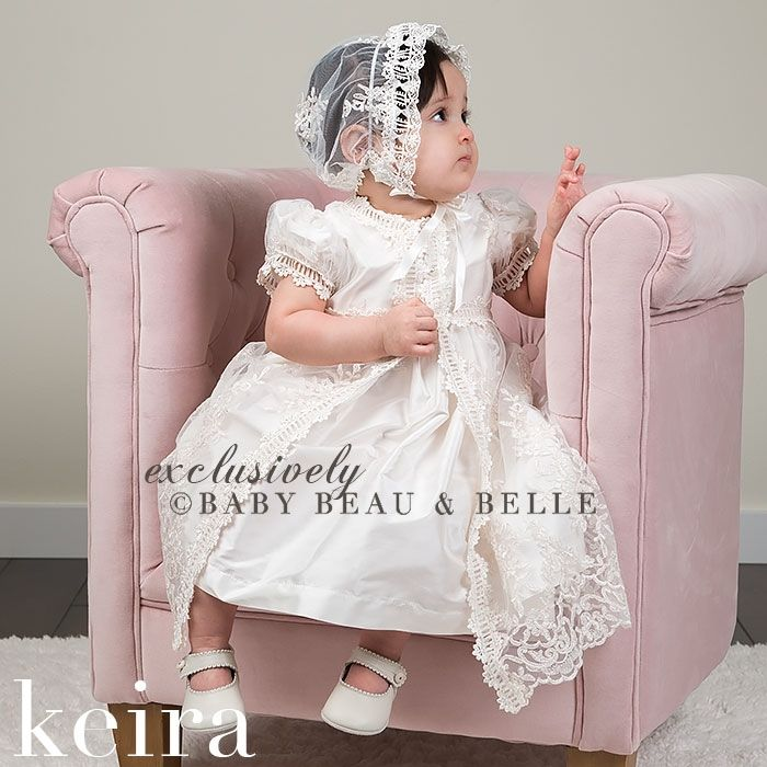292001923d6d8 New Lolita Infant Christening Dress Boys Girls Baptism Gown Flower Lace  Applique With Bonnet Free Shipping-in Dresses from Mother & Kids on ...