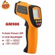 GM900 Термометр Цифровой ИНФРАКРАСНЫЙ Laster Инфракрасный Измеритель Температуры бесконтактный ЖК Gun Стиль Ручной-50-900C-58-1652F Пирометр