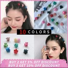 купить 10pcs/Lot Girls Cute Hair Clips Baby Girls Small Hair Claw Hairpins Headbands Kids Fashion Hair Accessorie flower Hair Jaw Clip онлайн