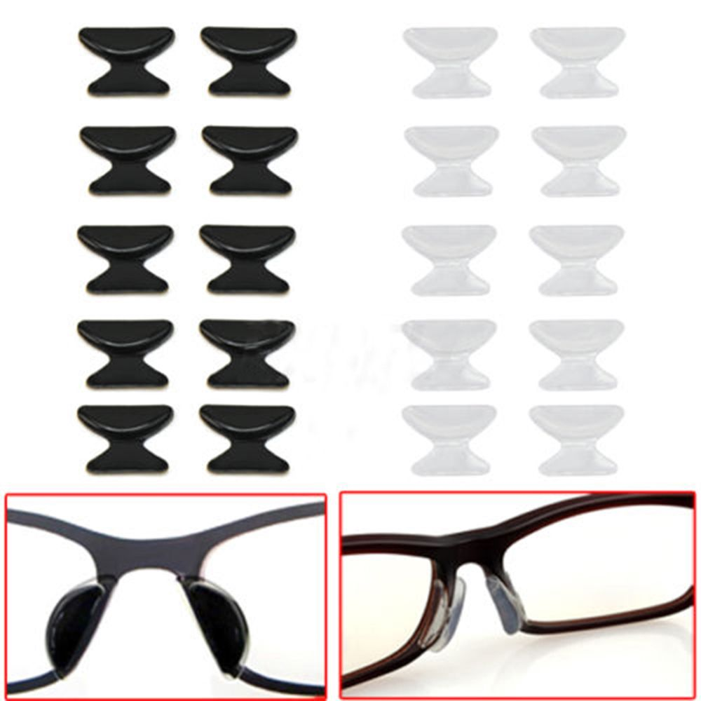 Hot Sale 5 Pairs Comfortable Eyeglass Sunglass Glasses Spectacles Anti-Slip Silicone Stick On Nose Pad Eyewear Accessories Parts