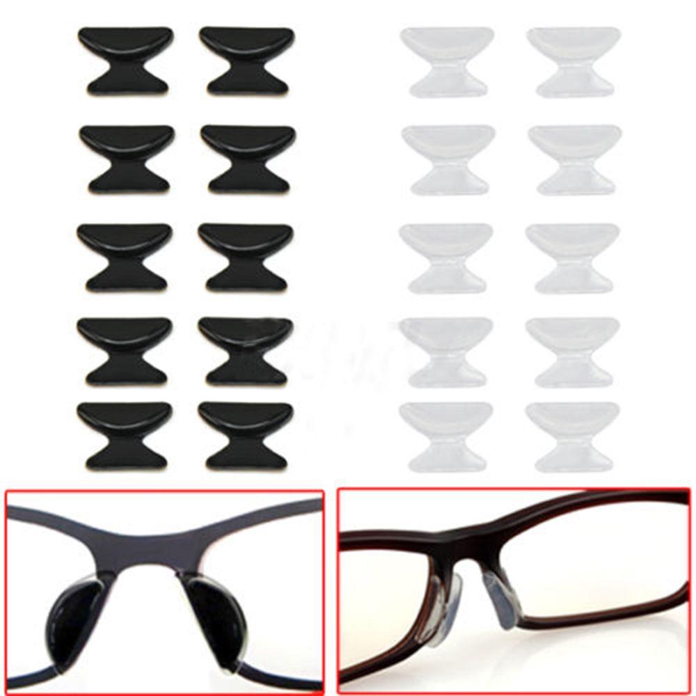 Gafas de sol cómodas, 5 pares, antideslizantes, de silicona, almohadillas para la nariz, accesorios para gafas, gran oferta