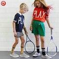 Bobo Choses 2017 Niños Muchachas de Los Muchachos de Manga Corta de Punto T-shirt Carta Juego de Algodón Niños Niño Niña Camiseta Ropa de la Tapa