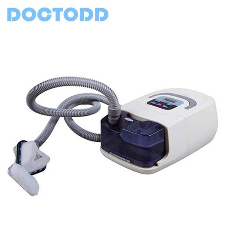FDA del CE Medico Portatile CPAP Macchina Respiratore per Apnea Del Sonno OSAHS OSAS Russare Persone BPCO CHE VIAGGIANO SUL WEB Con Il Trasporto Maschera Copricapo Tubo borsa