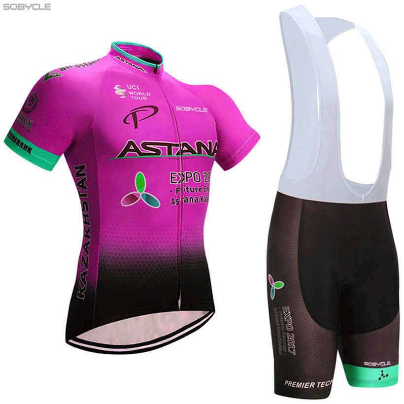 New 2017 PINK ASTANA pro cycling jersey bike short SET MTB Ropa Ciclismo PRO cycling WEAR mens BICYCLING Maillot Culotte цена