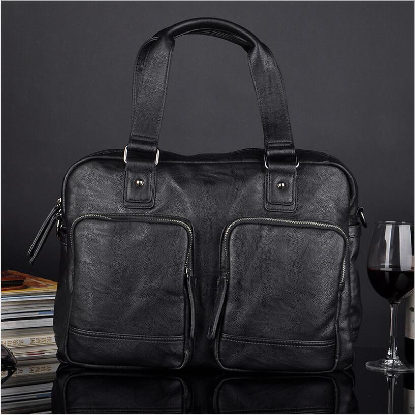 Корейский Для мужчин большой Ёмкость Сумки Бизнес портфель для путешествий из искусственной кожи Для мужчин сумки Винтаж кожаный деловой п