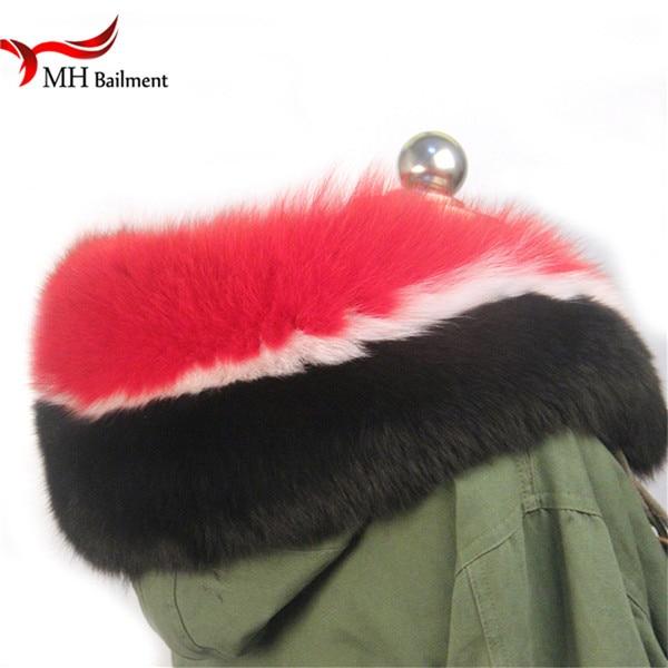 Шарф из натурального меха, пальто с меховым воротником, Женское зимнее пальто, меховые шарфы, роскошный мех енота, настоящий зимний теплый шейный платок - Цвет: E