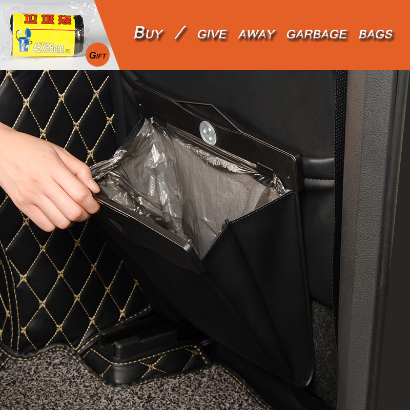 Foldable Car Trash Can Waterproof Collapsible Garbage Bag Bin Hanging Case Seat Back storage Box Auto Styling Accessories travel in Car Trash from Automobiles Motorcycles