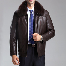 Free shipping New arrival winter men brand luxury fur sheepskin leather clothing men's fur coat very warm winter leather jacket