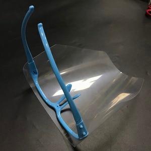 Image 3 - מתכוונן להסרה שיניים מגן מסכת ערכת 10 PCS מלא מגן פנים Visors + 1 מסגרת אנטי ערפל Dustproof מעבדה ציוד