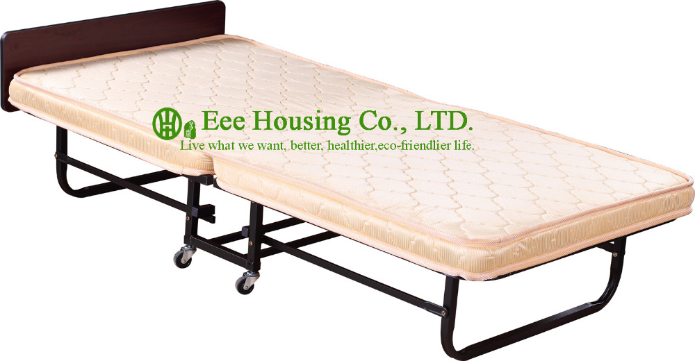 Hotel Extra Folding Bed,8cm Mattress Beds For Hotel Guest Room Single Size Roll Away Folding Hotel Extra Bed