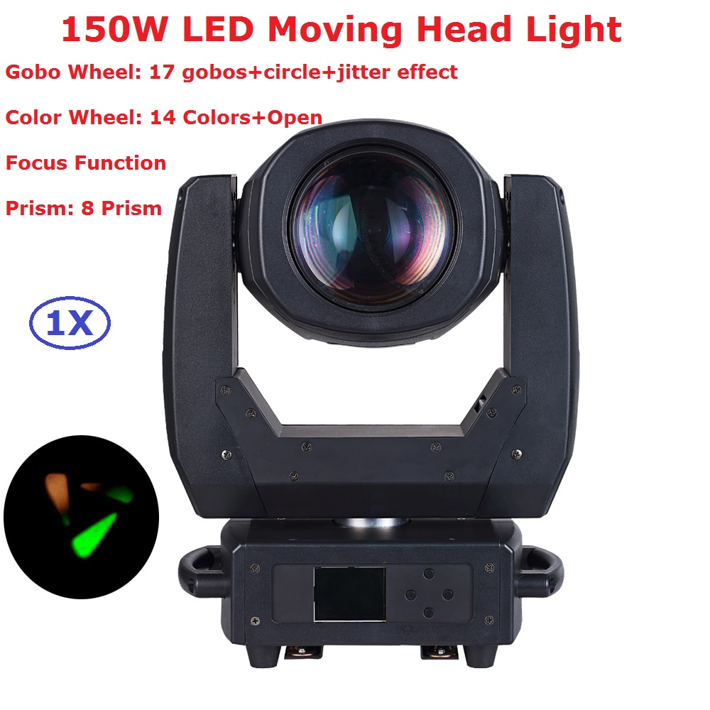 Newest 150W LED Moving Head Beam Light DMX DJ Disco Party Christmas Stage Effect Lights 150W White LED Spot Moving Head Light led 30w spot moving head lights party disco dj stage lighting 30w mini gobo projector dmx stage effect light led pattern lamps