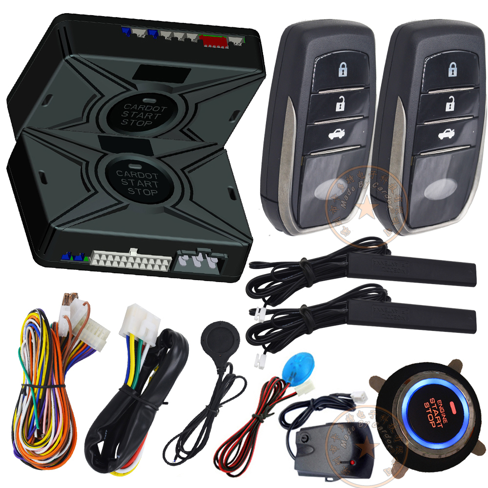 Smart Key Ignition Start Stop Button Car Security Alarm