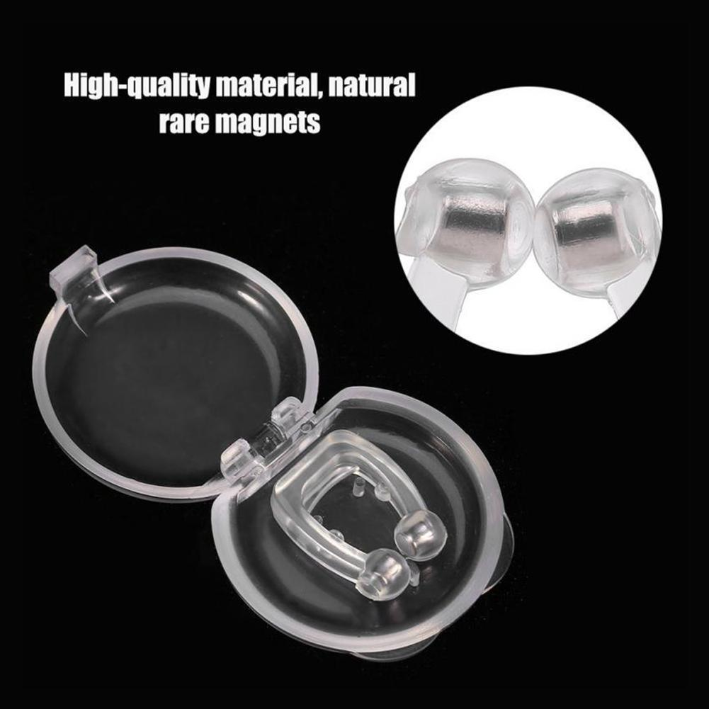 Soft Silicone Magnetic Anti Snoring Nose Breathing Snore Stopper Stop Snoring Device For Sleeping Aid Apnea With Storage Box