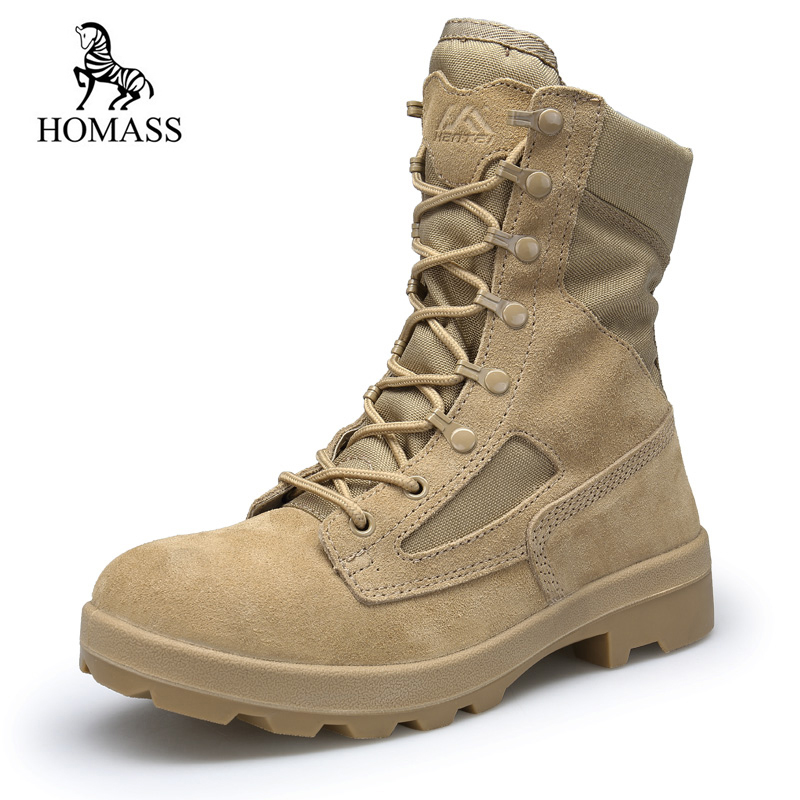 HOMASS Winter Autumn Men Military Boots Quality Special Force Tactical Combat Ankle Boats Army Work Shoes Flock Safety Boots homass winter autumn men military boots quality special force tactical combat ankle boats army work shoes flock safety boots
