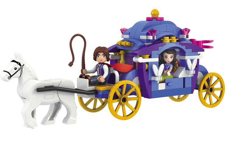 AIBOULLY 2017 New  5001 New Prince & Princess Snow White Carriage Set Building Bricks Blocks minis Educational Girls Toys DIY растение экочеловеки eco совы 5001 3шт