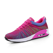 2017 Fashion Woman Casual Sport Breathable 3D Air Mesh Shoes Walking Sport Lightweight Zapatos Corrientes Chaussures de Dourse