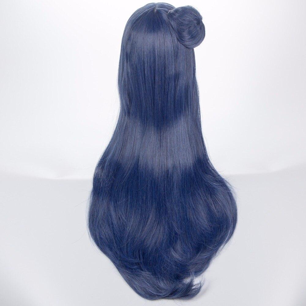 Высокое качество аниме LoveLive! солнце! Есик Цусима длинные синий, серый Косплэй волосы парик