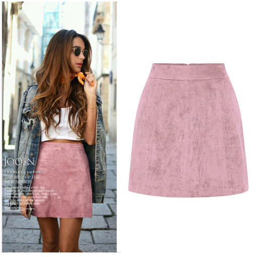 Popular Pink Suede Mini Skirt-Buy Cheap Pink Suede Mini Skirt lots ...