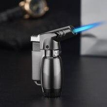 Газовая зажигалка синий пламени пистолет электронная 1300c бутан
