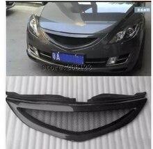 Car avant Grill Grille cas avec une bande pour For  Mazda 6 2008-2012  carbon fiber