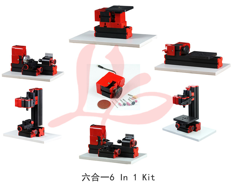 Russia only,no tax!!Z6000 mini lathe 6 In 1 Kit  jigsaw, wood turning lathe, metal lathe, milling , drilling , sanding machine 6 in 1 mini lathe milling drilling wood turning jag saw