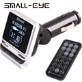 SMALL-EYE LCD Screen Bluetooth Car Kit FM12B Handsfree MP3 Player FM Transmitter USB Charger Support TF Card & Line-in AUX 8121