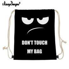 NOISYDESIGNS Customzied Small Drawstring Bag Don t Touch My Bag Printing Storage Bags Daily Backpack Junior