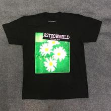 New Travis Scott  Astroworld T Shirt Men Women Billie Eilish T-shirt Fashion Run Flower Tee ASTROWORLD TRAVIS SCOTT Tshirt