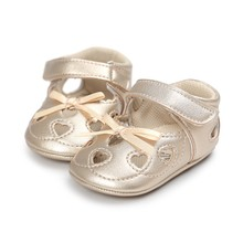 2017 Infant Baby Moccasins Girls Shoes Heart-shaped Princess