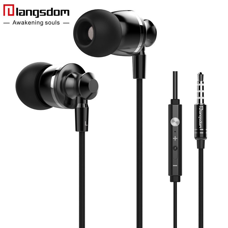 Langsdom M300 Metal Earphone Bass Gaming Headset In-Ear Stereo Earbuds with Mic fone de ouvido Phone Earphones for Huawei Xiaomi цена
