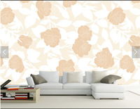 Custom Retro Wallpaper Romantic Roses Murals For The Living Room Bedroom TV Background Wallpaper Vinyl Papel