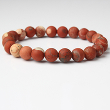 Natural stone beads bracelet for men and women lucky charms matte and frosted natural stone beads  crystal jewelry bracelet цена и фото