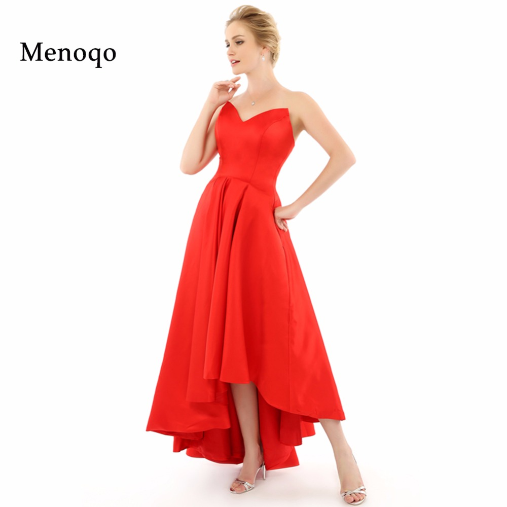 Red Ball Gown Dresses: Long Red Ball Gown Evening Dress Short 2019 Sweetheart