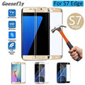 Edge 3D Full coverage protective glass on the for samsung galaxy s7  screen protector tempered glass film mobile accessories