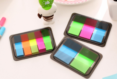 Novelty Fluorescent Sticky Notes Candy Color Memo Pad sticky Bookmark Post it Label Escolar Papelaria School Supply