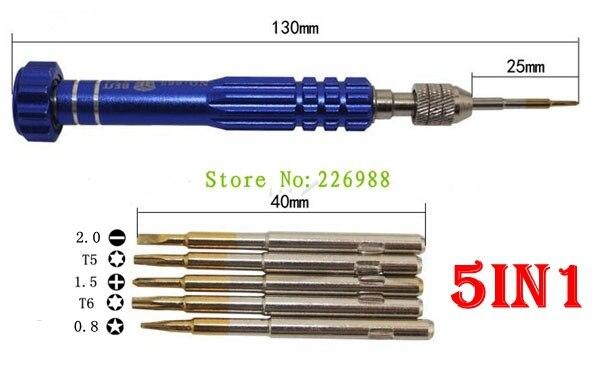 5 in 1 Screwdriver KIT for iPhone Samsung Phone High Hardness DIY Repair Tools Pentalobe 0.8 Precision S2 Screw driver Bit Multi