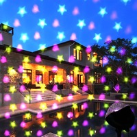 LED Stage light Laser Projector Lamps Stars&Heart Snowfall Romantic effect Christmas Party Holiday Decoration Outdoor Light
