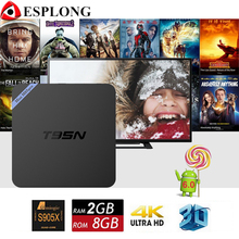 Nueva S905X T95N Mini M8S Pro Android 6.0 TV Box Amlogic Quad Core 2 GB 8 GB Wifi Kodi 16.1 caja 4 K HD Set top Box IPTV Inteligente PK X96
