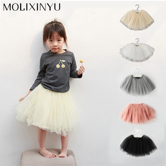Molixinyu Новый Модная одежда для детей, Детская мода юбка принцессы для маленьких девочек Одежда для девочек пышная шифоновая юбка-пачка для танцев Юбки Pettiskirt для детей